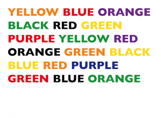 optical illusion text and color